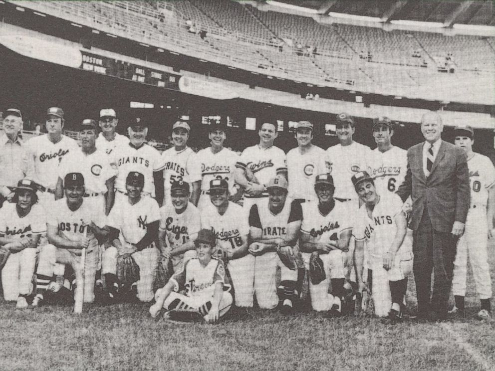PHOTO: In 1972, Sears, Roebuck and Co. introduced a complete set of trading cards for the Congressional Baseball Game. Democrats and Republicans were shown on individual cards and in a team photo.