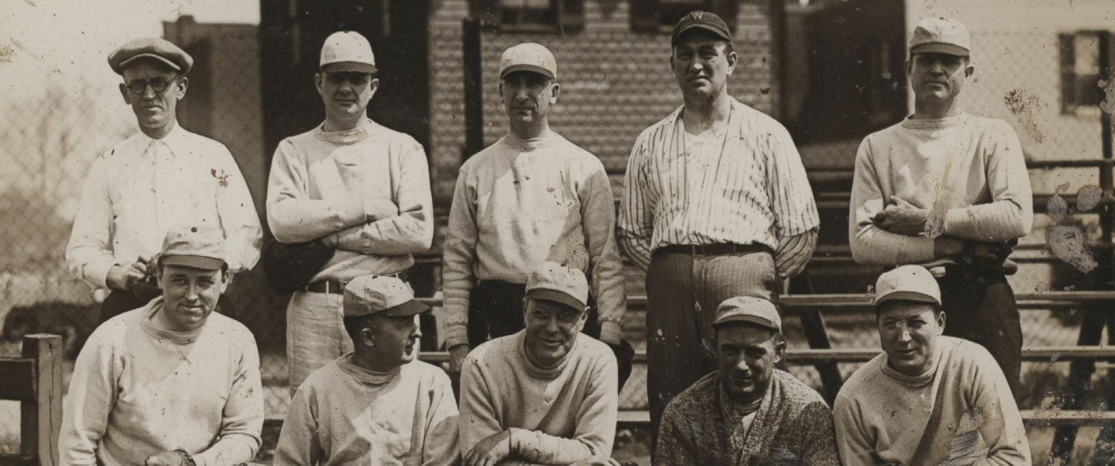 PHOTO: A ragtag band of players gathered for the 1926 Congressional Baseball Game, which newspapers reported was the first matchup in years.