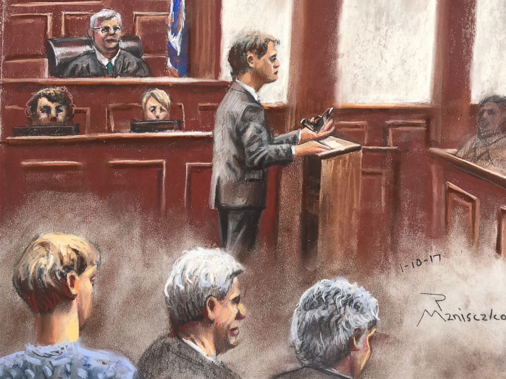 PHOTO: Assistant U.S. Attorney Jay Richardson gives the prosecution's closing arguments during the sentencing phase of Dylann Roofs federal trial, Jan. 10, 2017, in Charleston, S.C.