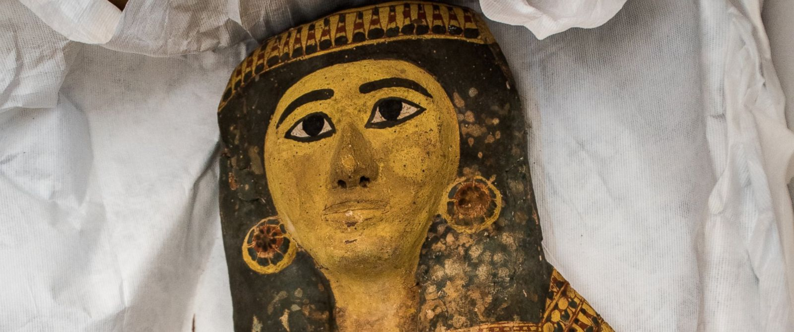 PHOTO: One of a series of illegally smuggled ancient artifacts repatriated to the government of Egypt at a ceremony December 1, 2016 at the Egyptian Embassy in Washington.