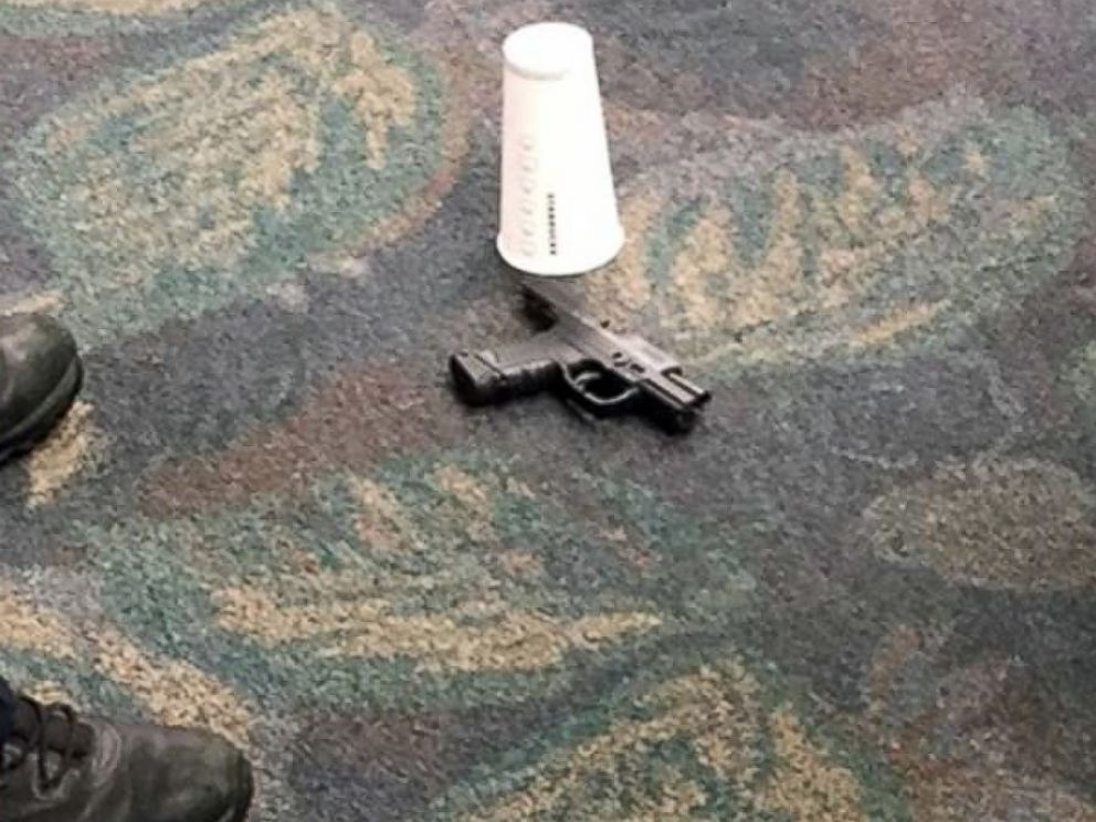 PHOTO: According to an eyewitness, pictured is a gun used in the deadly shooting at the Fort Lauderdale airport, Jan. 6, 2017.