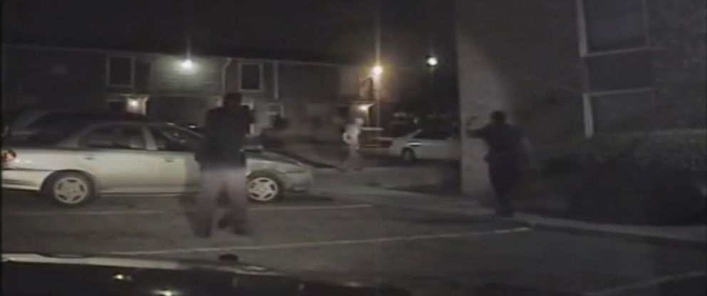 PHOTO: Fort Worth Police Department released dashcam video shows David Collie walking away from officers before being shot.