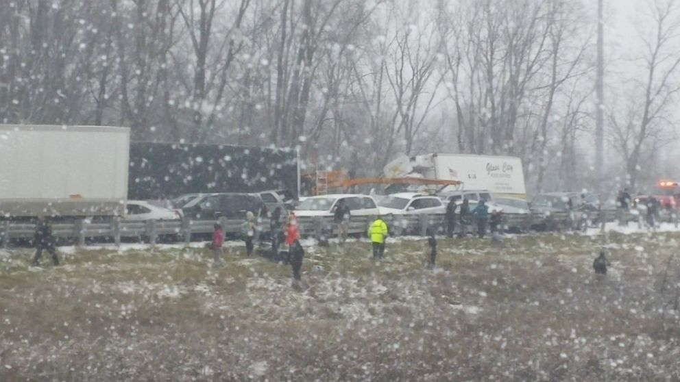 Chain of Car Crashes on Icy I-96 in Michigan Kills at Least 3