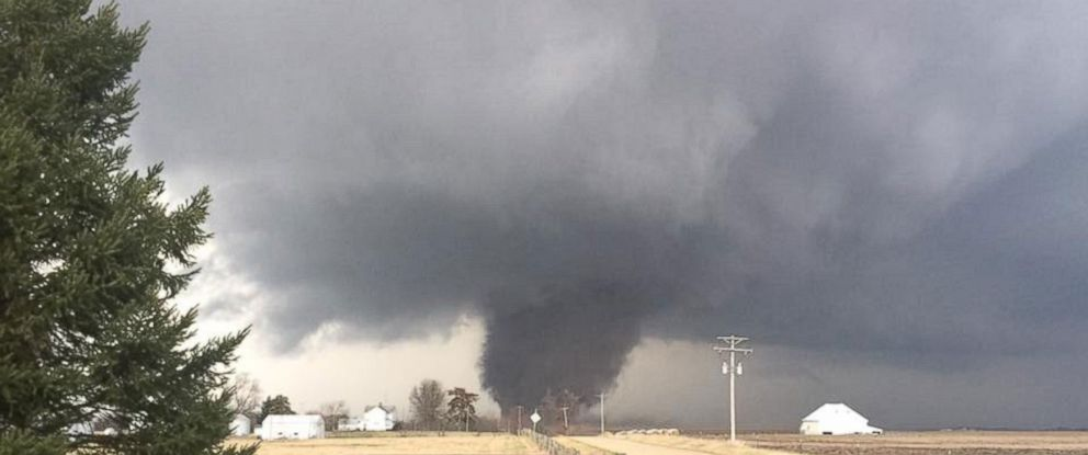 parts of midwest hit by tornadoes and large hail at least