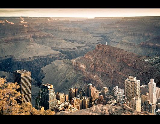 If Manhattan Was Inside The Grand Canyon