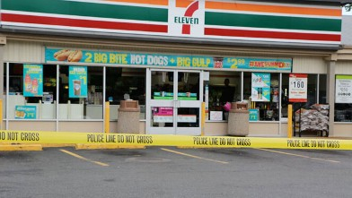 PHOTO: An Islip, N.Y., 7-Eleven was one of 14 franchise locations raided by federal agents in an immigration probe.