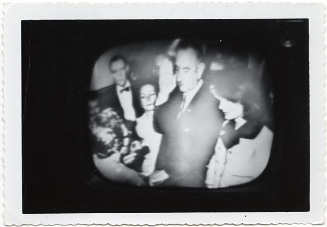 ht 8 Television image LBJ swearing in ll 131022 wblog JFK 1963: A Bystanders View of History