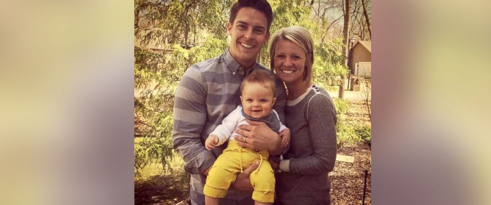 PHOTO:Amanda Blackburn is seen her with her husband and child in this undated photo.