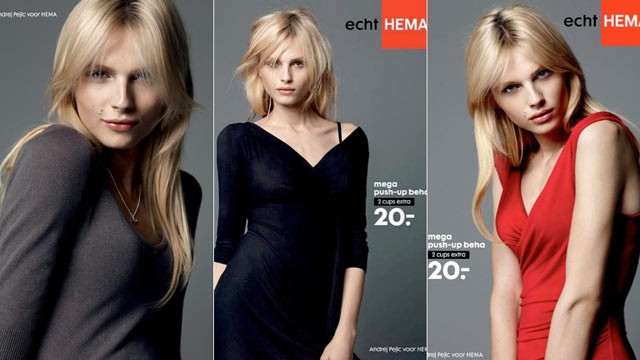 PHOTO: Andrej Pejic, a male model known for his gender-bending work on runways, is the star of Dutch fashion company Hema's newest lingerie ad campaign.