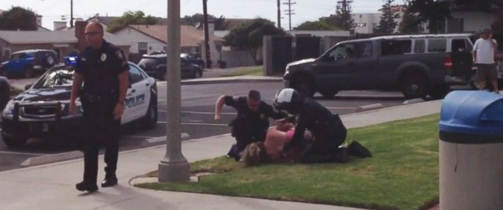 PHOTO:A mother is suing the city of Carlsbad, California, after she says police assaulted her in front of her children on the way home from a birthday party in 2013.