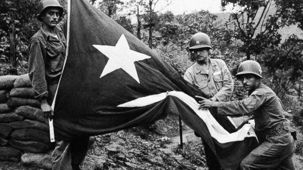 A Bullet Ridden Puerto Rican Flag Is Seen In This Undated Photo Provided By The Borinqueneers Congressional Gold Medal Alliance