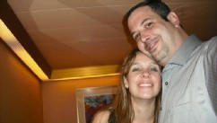 PHOTO: Rob Mowlam, 37, and Stephanie Stevenson, 27, of Nederland, Texas, got married on the Carnival Triumph on Friday and have spent their honeymoon stranded at sea.