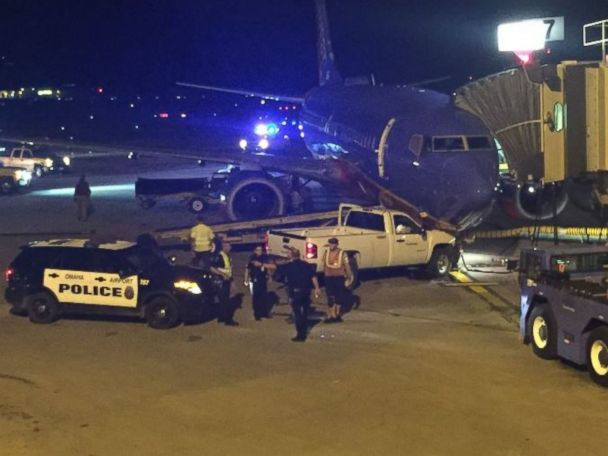 Man Scales Airport Fence, Rams Pickup Into Plane