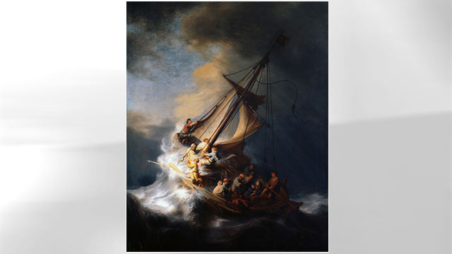 PHOTO: The Storm on the Sea of Galilee by Rembrandt.