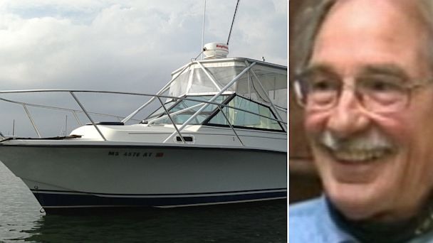 PHOTO:  Dave Henneberry, is seen in this April 23, 2013 video grab from World News, has a new boat, left, which was paid for by benefactors after his boat was destroyed in a shootout with the police in the aftermath of the Boston bombing.