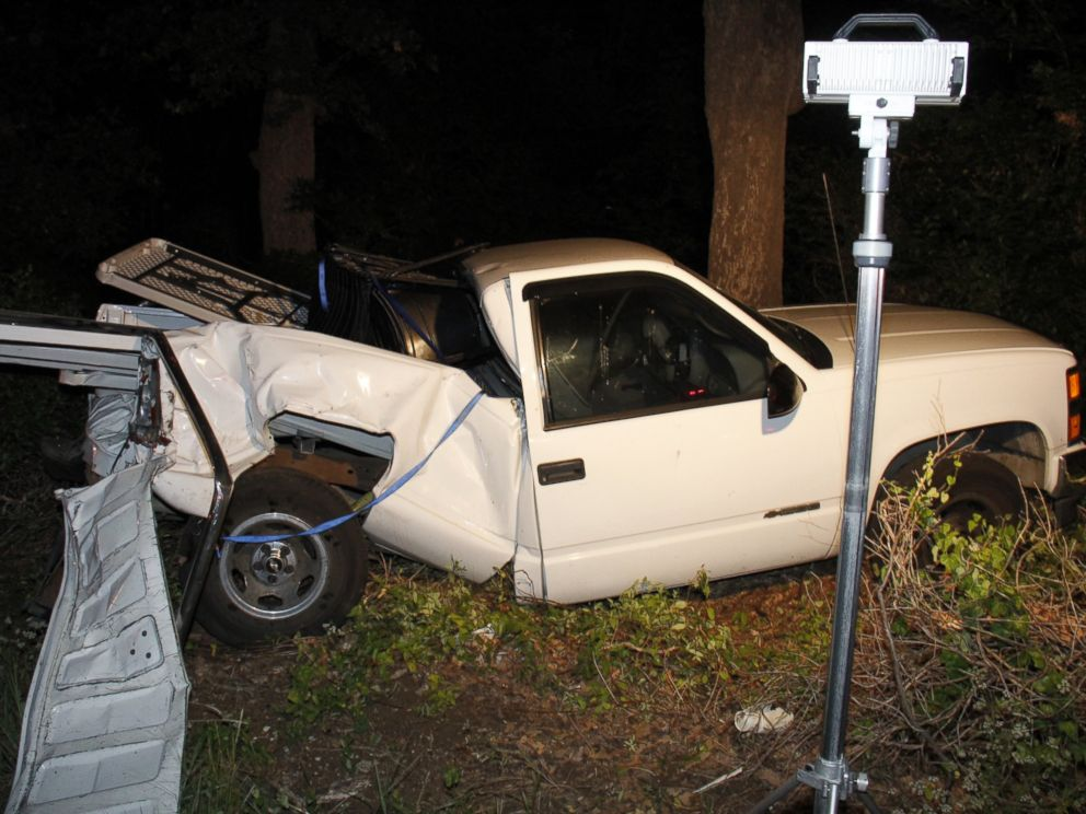 PHOTO: Brian Jennings truck is pictured here after the accident he was killed in.