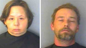 PHOTO Mugshots of Alicia Kelley and Steven Scott Kelly of Greenwood, S.C.