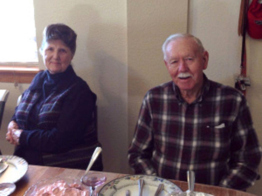 PHOTO: Charles Sasser and Pat Sasser at home on Thanksgiving 2013.