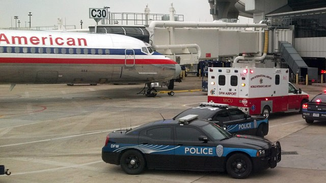 PHOTO: American Airlines flight at gate