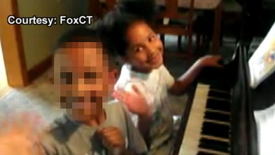 PHOTO: Ana Marquez Greene plays the piano with her brother in this undated family photo.