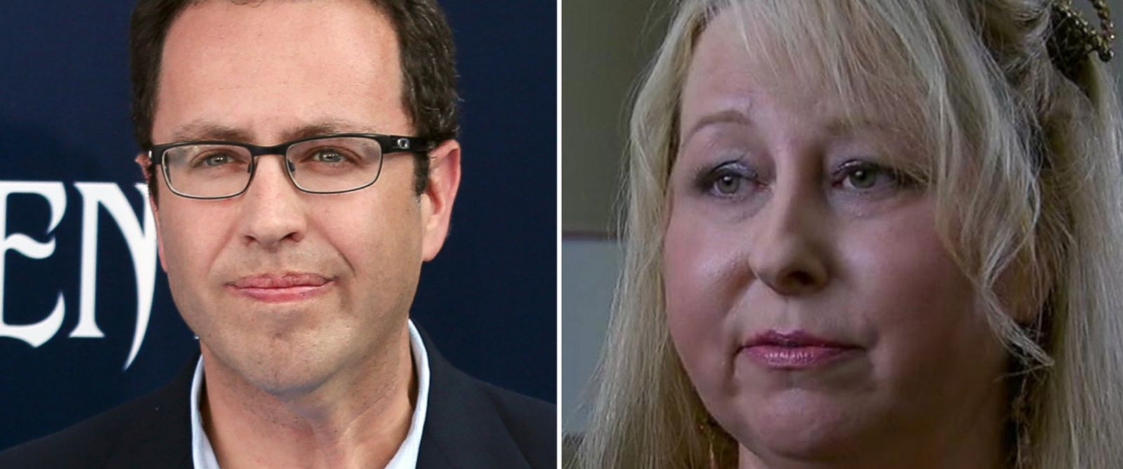 PHOTO: Jared Fogle and Rochelle Herman-Walrond.