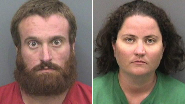 PHOTO: Joshua and Sharyn Hakken, seen here in mug shots provided by Hillsborough County Sheriffs Office, were arrested on charges of kidnapping after fleeing to Cuba with their two young children.
