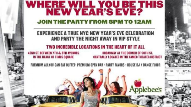 ht applebees kab 131230 16x9 608 New Years Eve Prices at NYC Casual Restaurants Are Off the Chain