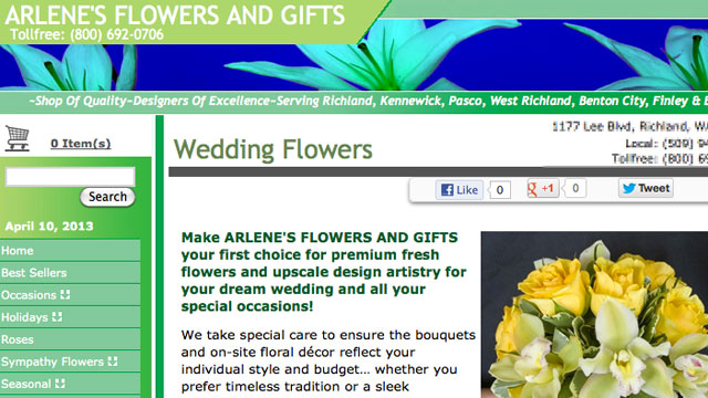 PHOTO: Washingtons attorney general has filed a lawsuit against a florist who allegedly refused to provide wedding flo