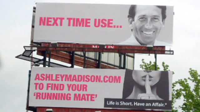 PHOTO: Ashley Madison Mark Sanford billboard