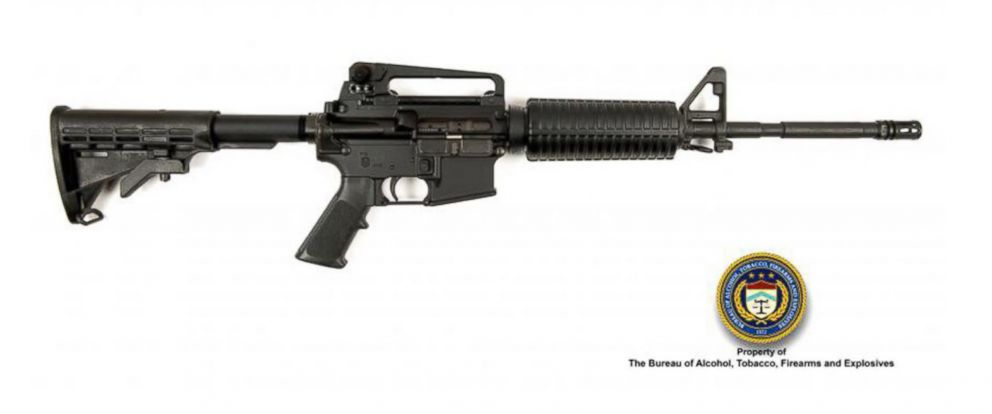 PHOTO: The Bureau of Alcohol, Tobacco, Firearms and Explosives released this picture of a .223 caliber AR-type rifle that they say is similar to the one used by Omar Mateen in the Orlando shooting.