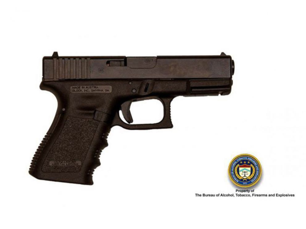 PHOTO: The Bureau of Alcohol, Tobacco, Firearms and Explosives released this picture of a 9mm semiautomatic pistol that they say is similar to the one used by Omar Mateen in the Orlando shooting.