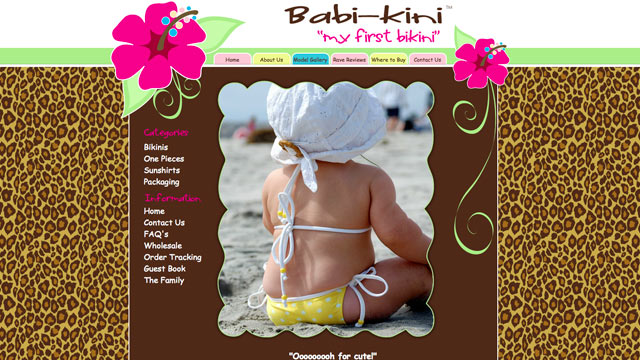 PHOTO: The website babikini.com is shown.