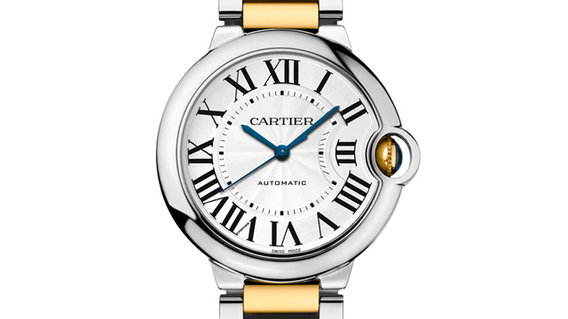 PHOTO: Ballon Bleu de Cartier Steel and Yellow Gold Watch