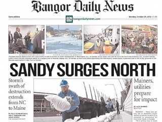 Photos: Newspapers Lead With Sandy