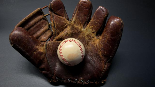 "PHOTO: A Wilson ""Bob Elliott"" model glove from about 1950, a starter glove for vintage glove collectors."