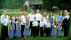 PHOTO Gil and Kelly Bates live with their 18 children in a five-bedroom, 4000 square foot home in rural Tennessee.