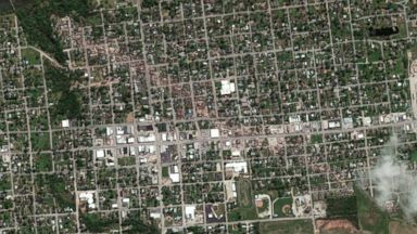 and after aerial images, taken on April 23 2013 and April 28, 2014 ...