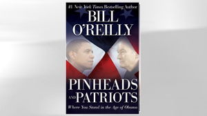 "PHOTO The cover of Bill O?Reilly book, ""Pinheads and Patriots: Where You Stand in the Age of Obama"" is shown."