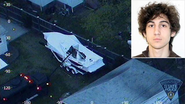 Boston bombings suspect Dzhokhar Tsarnaev left note in boat he hid in