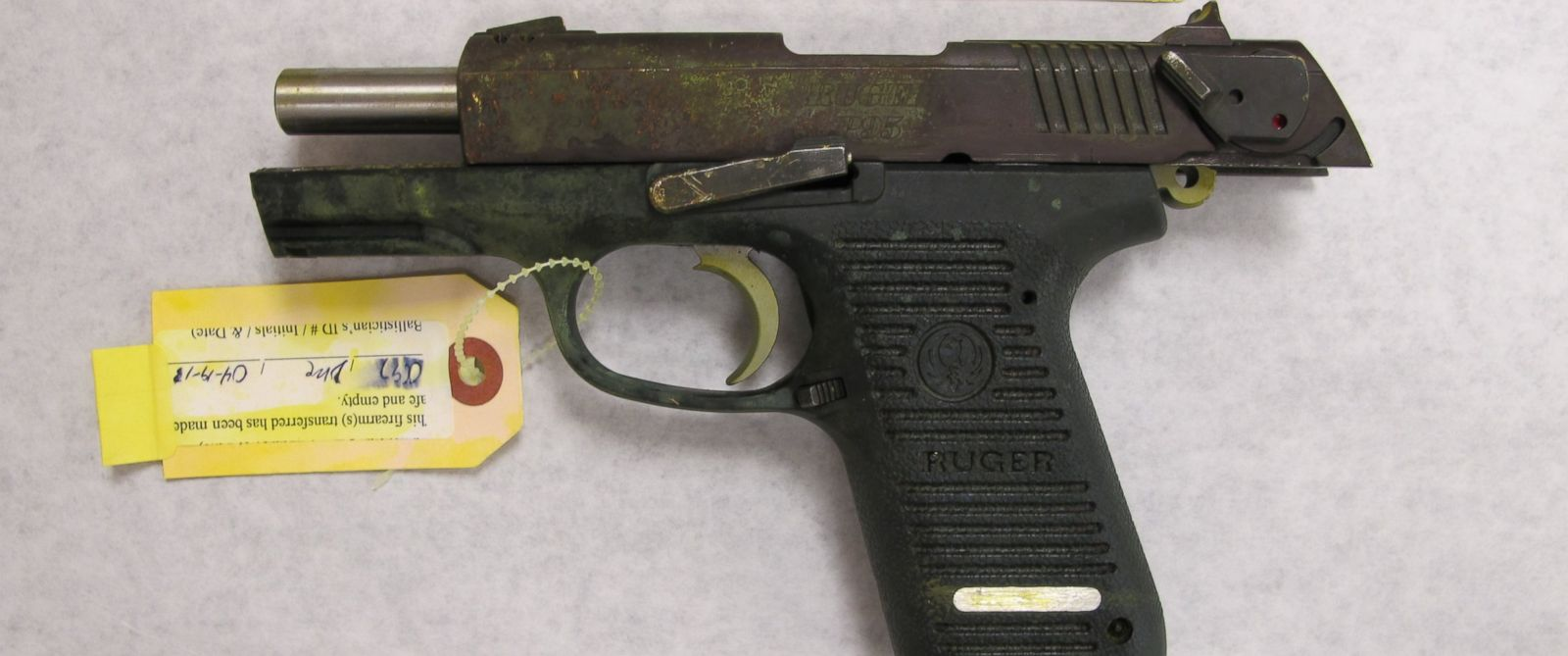 PHOTO: Evidence presented against Dzhokhar Tsarnaev in the Boston Marathon bombing case included this Ruger 9mm pistol, allegedly used by the Tsarnaev brothers days after the marathon attack.
