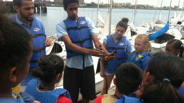 PHOTO: Hands-on learning at the Constitution Museum as a part of the Boston Summer Learning Program, where sailing, marine life, and field trips are part of a program to prevent a summertime loss of reading and math skills among low-income students in Bos