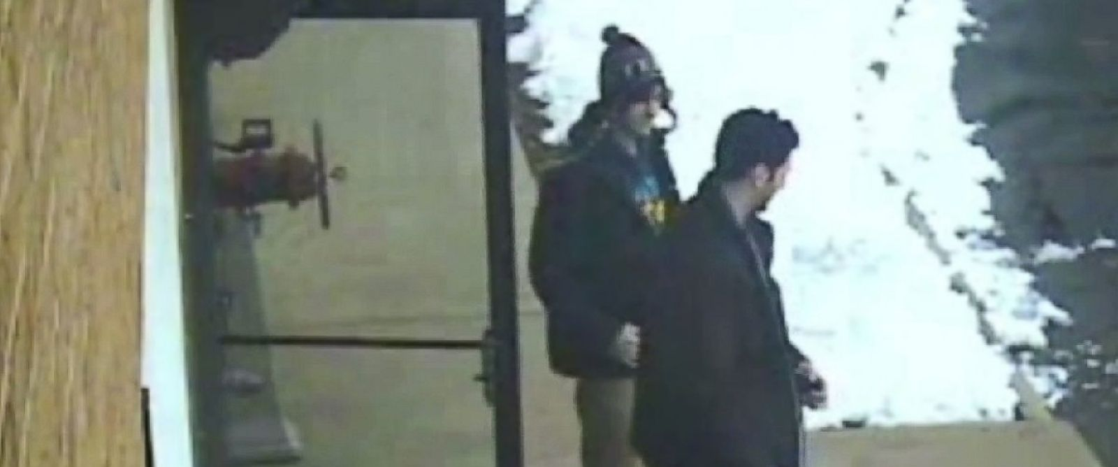 PHOTO: Surveillance video released at the trial of accused Boston Marathon bomber Dzhokhar Tsarnaev shows the defendant, left, and his brother Tamerlan, right, outside a New Hampshire gun store.