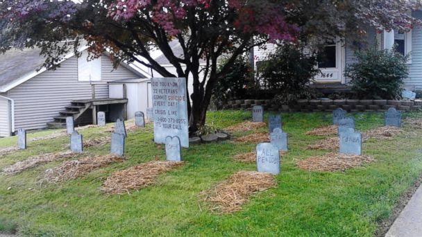 ht bowman veterans suicide kb 131015 16x9 608 Ohio Tombstones Raise Awareness of Veteran Suicides
