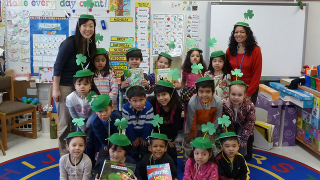 PHOTO Miriam Kim?s kindergarten class at Braddock Elementary made special green hats on March 16th in anticipation of St. Patrick?s Day.