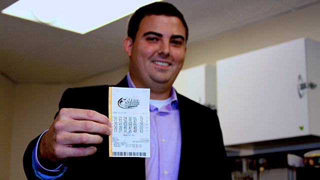 PHOTO: Brian McCarthy won $107 million in Mega Millions jackpot in Herndon, Virginia.
