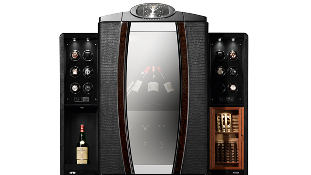 PHOTO: Watch winder wine cabinet