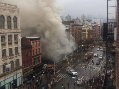 7-Alarm Fire Rages After NYC Building Collapse