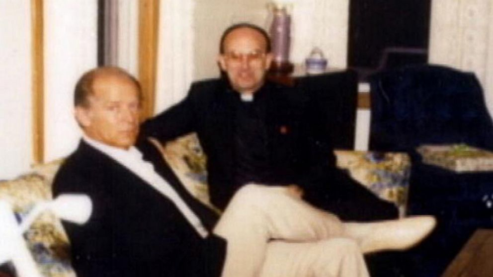 PHOTO: Whitey Bulger was pictured with defrocked pedophile priest Monsignor Frederick J. Ryan.