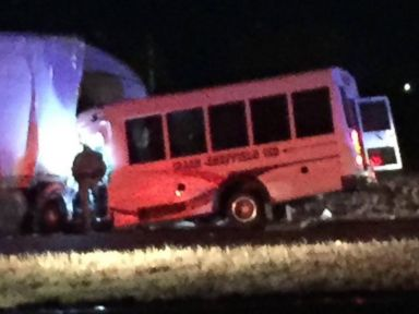 PHOTO: A bus carrying high school cheerleaders collided with an 18-wheeler in Howard County, Texas, on December 2, 2016.