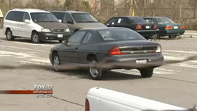 PHOTO: An abandoned car parked in Chicago was issued more than $100,000 in parking tickets over the past three years.